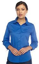 As Is Isaac Mizrahi Live! Tiered Collar Long Sleeve Button Shirt