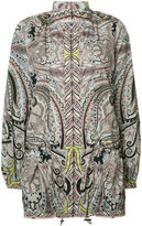 Etro elasticated cuffs zipped jacket - women - Polyester/Polyimide - 38