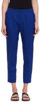 Lanvin Cropped Wool Pants, Blue Boho