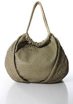 Elie Tahari Brown Leather Magnetic Popper 4 Pocket Tote Handbag