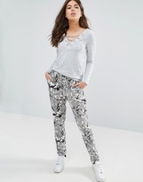Only Forever Printed Relaxed Pants
