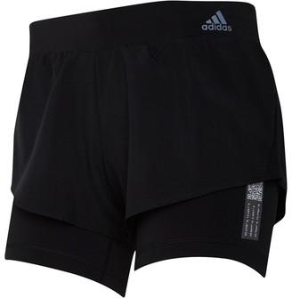 adidas Womens Adapt To Chaos 2 In 1 Running Shorts Black