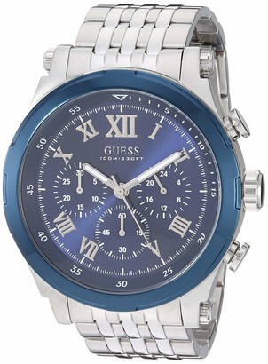 GUESS Men's Quartz Watch with Stainless-Steel Strap