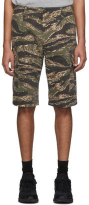 Junya Watanabe Khaki and Brown Camouflage Chino Cargo Shorts