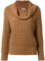 EN ROUTE cowl neck waffle knit jumper