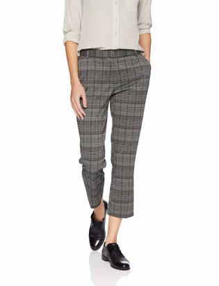 Michael Stars Women's Plaid Ponte Smart Pant Small