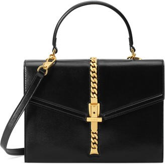 Gucci Sylvie 1969 python small top handle bag