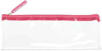 Container Store Medium Pink Zippered Clear Pouch