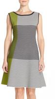 Vince Camuto Stripe Knit A-Line Dress