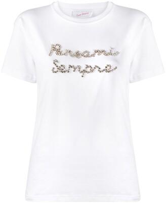 Giada Benincasa embellished logo T-shirt