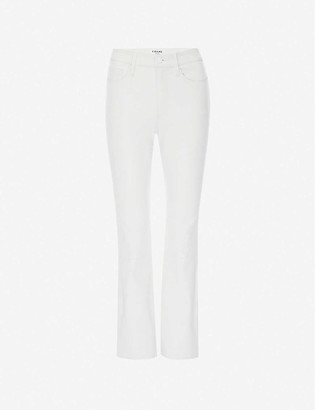 Frame Le Crop Mini Boot bootcut high-rise leather jeans