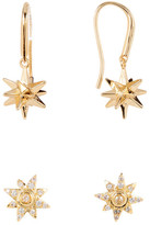 Melinda Maria Stars Drop & CZ Earrings Set