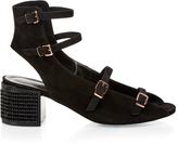 Robert Clergerie Elona suede block-heel sandals