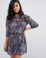 Vero Moda Karin Drop Waist Lace Panel Dress