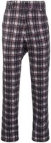 Aganovich - drop crotch tartan trousers - men - Cotton/Wool - 48