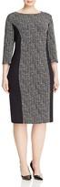 BASLER PLUS Three-Quarter Sleeve Graphic Print Sheath Dress