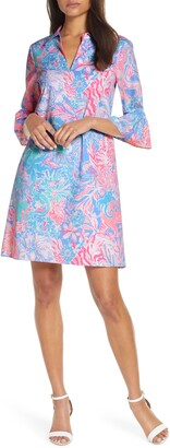 Lilly Pulitzer Ginger Floral Print Stretch Cotton Shift Dress