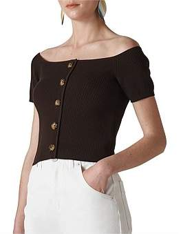 Whistles Button Front Rib Knit