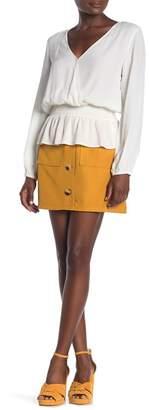 Lumiere Button Up Mini Skirt