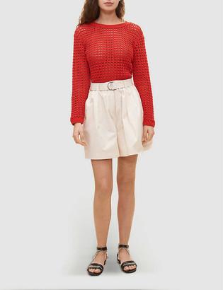 Claudie Pierlot Cut-out cotton-knit jumper