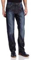 Southpole Men's 6181 Regular Straight-Fit Shiny Streaky Jean