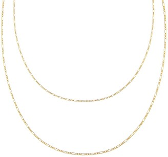 Adina's Jewels Layered Figaro Chain Necklace