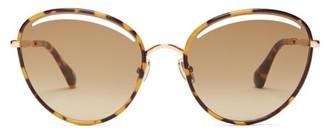 Jimmy Choo Malya Tortoiseshell Round Acetate Sunglasses - Womens - Tortoiseshell