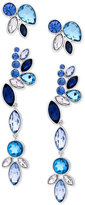 GUESS Silver-Tone 2-Pc. Set Blue and Clear Crystal Earrings