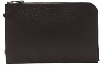 Nosakhari - Standout Mini Grained-leather Document Holder - Mens - Black