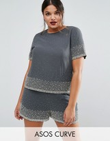 Asos Scatter Embellished Top Co-ord