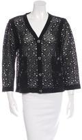 Chanel Crochet Button-Up Cardigan