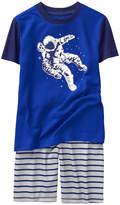 Crazy 8 Royal Blue Astronaut Pajama Set - Toddler & Boys