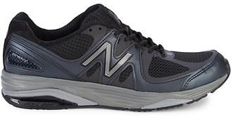 New Balance Logo Low-Top Platform Sneakers