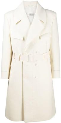 Maison Margiela Belted Wool Trench Coat