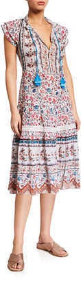 Shoshanna Floral-Print Swing Midi Dress