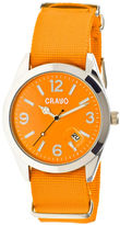 Crayo Women's Sunrise Orange Nylon-Band Watch with Date Cracr1704