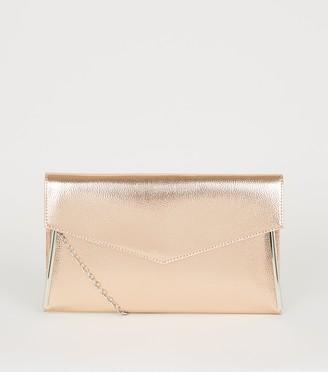 New Look Leather-Look Asymmetric Clutch