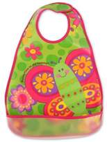 Stephen Joseph Butterfly Wipeable Bib in Pink