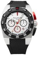 Tommy Bahama Men's Quartz Stainless Steel and Rubber Casual Watch, Color:Black (Model: TB00008-01)