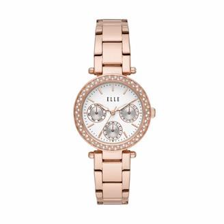 Elle Marais Multifunction Rose Gold-Tone Stainless Steel Watch