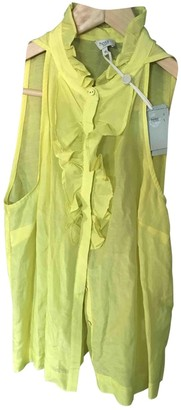 Hoss Intropia Yellow Cotton Top for Women