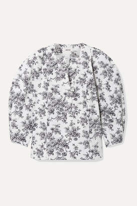Jason Wu Floral-print Cotton-poplin Blouse - White