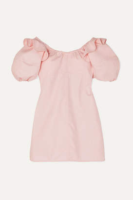 Ellery Valeria Ruffled Cotton-twill Mini Dress - Pink