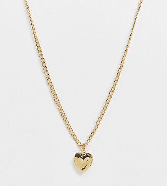 Orelia necklace in gold plate with heart locket