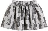 Finger In The Nose Bunny Printed Cotton Skirt