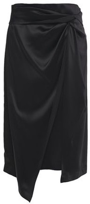 Brunello Cucinelli Layered Twisted Satin-crepe Midi Skirt