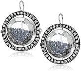 """Moritz Glik Kaleidoscope"""" 18K and 14k Gold Floating Black Diamond Earring"""