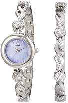 Limit Women's Quartz Watch with Purple Dial Analogue Display and Silver Alloy Bracelet 6168G.29