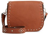 Linea Pelle Studded Faux Leather Satchel - Brown