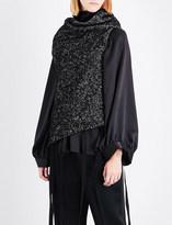 Ann Demeulemeester Wrap-front wool and linen-blend jacket
